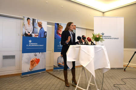 CopenhagenDenmark. 18.January 2019._ Ms.Ellen Trane Norby minister for senior and health holds press coneferenc about Denmarks Health sector reforms  minister Mo hands and happy working environment among health sector workers said minister minister at P