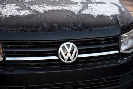 CopenhagenDenmark. 18.January 2019._  German VW Volks Wagen  auto van in Copenhgen Denmark.