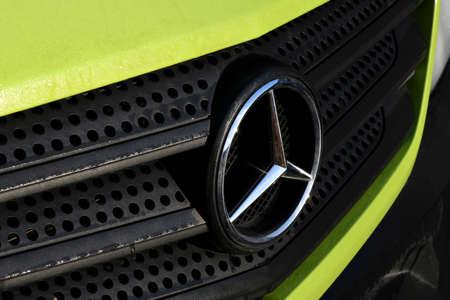 CopenhagenDenmark. 19.January 2019._  German Mercedes benz vlogo van in danish capital Copenhagen Denmark.
