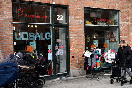 7db9695608b CopenhagenDenmark. 24.January 2019._Mothers help 2nd hand shop on  amagerbrogade and donation