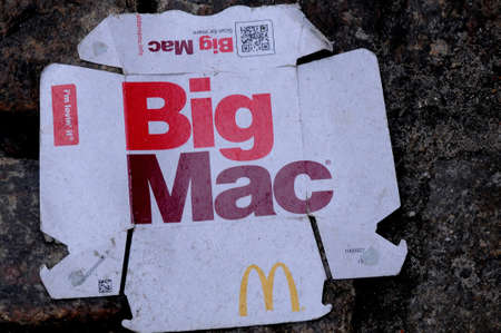 CopenhagenDenmark. 5th ..Febuary 2019._  Big Mac menu from McDonals  food menu in Copenhagen Denmark. Editorial