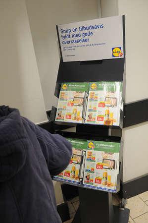 CopenhagenDenmark. 8th.Febuary 2019.German grocery chain lidl in dais capital Copenhagen Denmark..