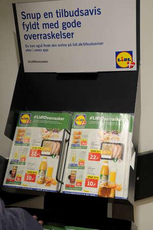 CopenhagenDenmark. 8th.Febuary 2019.German grocery chain lidl in dais capital Copenhagen Denmark. _