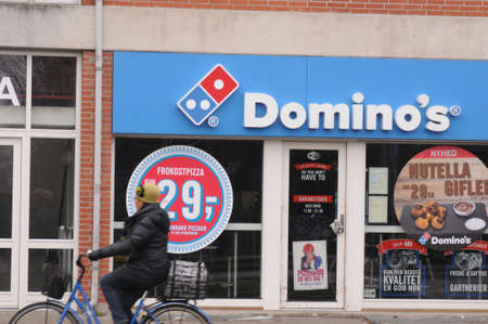 Copenhagen/Denmark. 26.FEBUARY 2019. American chain restaurant Domino's pizza  fast food restaurant on amagerlandet Denmark.