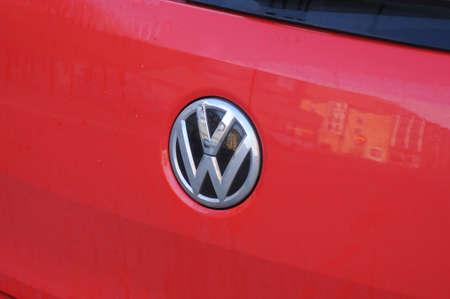 CopenhagenDenmark. 01 March 2019. German VW volks wagen auto in Copenahgen Denmark. Editorial