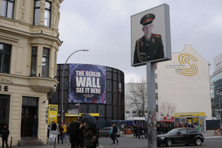 Check point charlieberlain 05.March 2019. _Images are from Check point charlie, berlin 1989-2019 this Berlin Germany celebrate 30 years since Berlain wall fall.