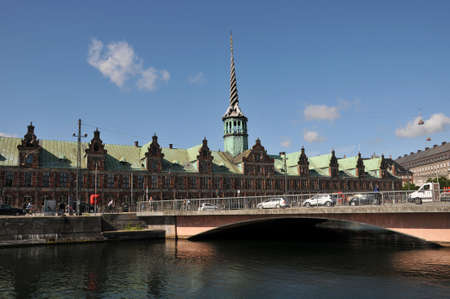 Copenhagen,Denmark/28.june.2020/Denmark 's borsen old stock exchange builing now business trade office building and much more on Copenhagen canal and closed plasce for danish official buildings.