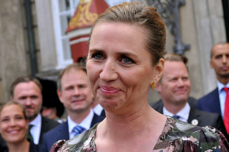 Copenhagen /Denmark./ 27June 2019/Ms. Mette Frederiksen New prime miniter of Denmark solo social democray govenorment  after 40 years she presnets her minister team to first to H.M.The Queen Margrethe II of Denmark may be other royal familt member at Aame Editorial