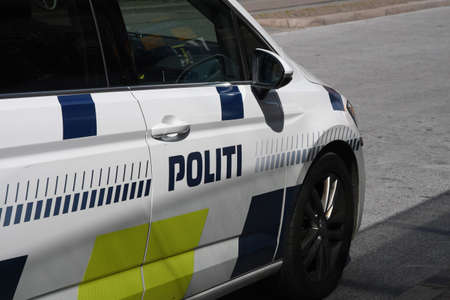 25 July.2020/Danish police auto in danish called Politibil in danish capital  Copenhagen Denmark,