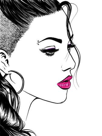 Portret van een meisje zijaanzicht.