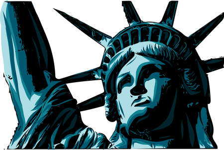 the american Liberty Statue Icon vector Illustration 스톡 콘텐츠