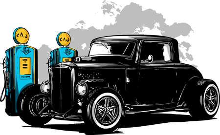 zabytkowy samochód, garaż hot rod, samochód hotrods, oldschoolowy samochód,