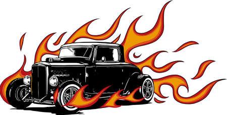 coche antiguo, garaje hot rod, coche hotrods, coche de la vieja escuela,