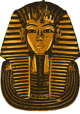 a illustration king tutankhamen egyptian death mask