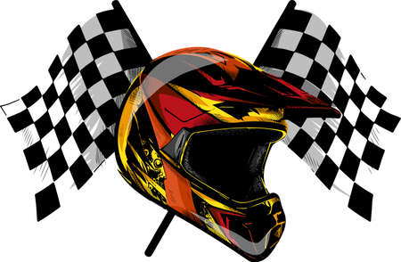 vector Icon motocross helmet, helmet for downhill.