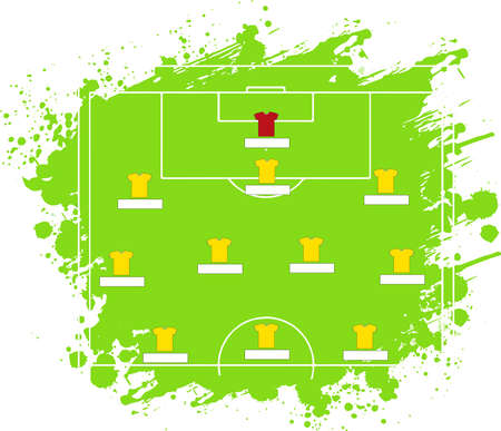 Soccer Tactic Table. Vector Illustration