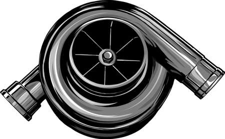 vector illustration Turbo on isolated white background