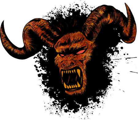 illustration du tatouage diabolique démon diabolique Banque d'images