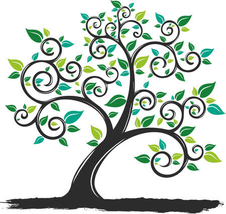 vector Illustration Tree with Roots