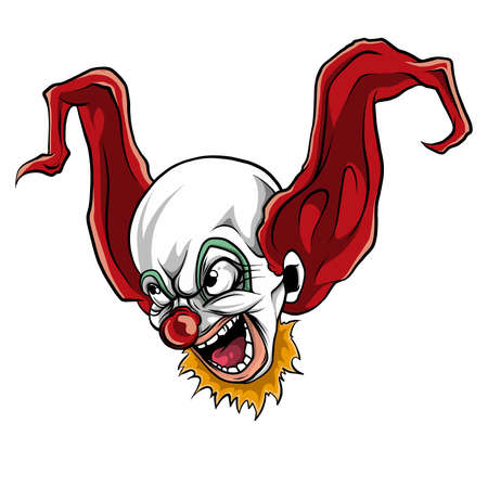 vector of face evil killer clown