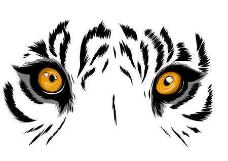 vector Tiger Eyes Mascot Graphic