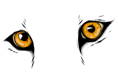 leopard Eyes Mascot Graphic in white background illustration Illustration