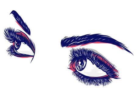 eyes of women vector illustration Banque d'images - 124695851