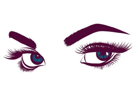 eyes of women vector illustration Banque d'images - 124695860
