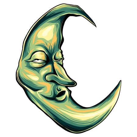 dibujo de la cara de la luna
