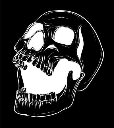Skull Vector illustration, Collection Of Hand Drawn Skulls, Hard Core Skull Art