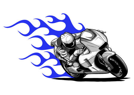 vector illustration Sport superbike motorcycle with struments Vektoros illusztráció
