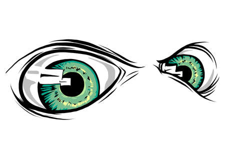 a Creature Animal eyes. vector illustration design Banco de Imagens