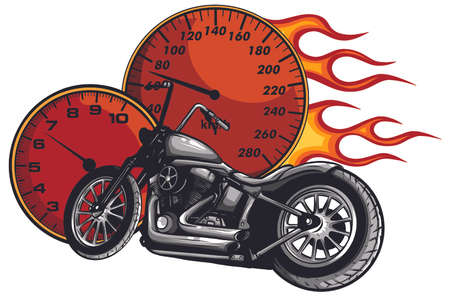 a Motorcycle racer sport vector illustration design 向量圖像