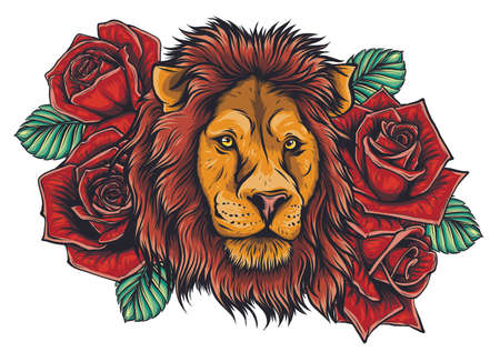 Tiger embroidery design. Embroidery for Fashion. Vector trendy.