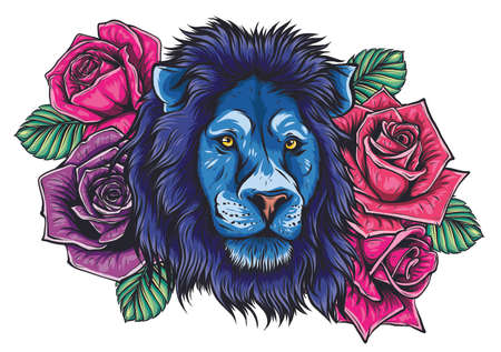 Tiger embroidery design. Embroidery for Fashion. Vector trendy illustration.