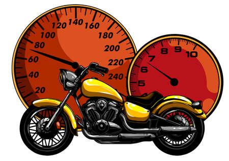 a Motorcycle racer sport vector illustration design Vektoros illusztráció