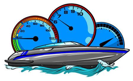 Motor boat race Vector illustration design art Ilustracja