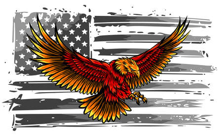 The national symbol of USA. Flag and Eagle. vector