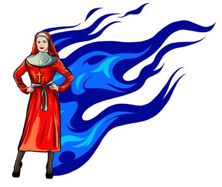 Nun nurse female possessed by the demon