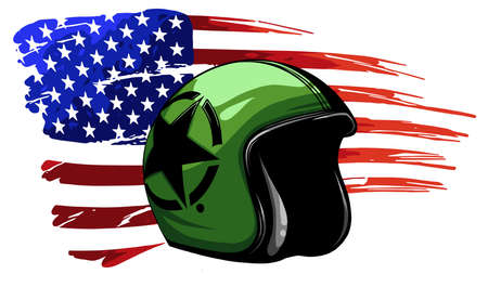 america veteran day, memorial day, independence day, usa flag artwork Illustration