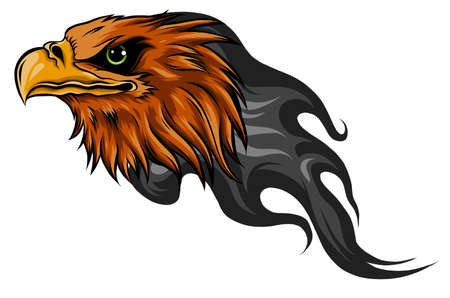 Flaming Eagle - vehicle graphic. Ready for vinyl cutting. Stock Illustratie