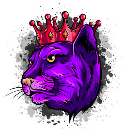 Cougar Panther Mascot Head Vector illustration Graphic Illustration