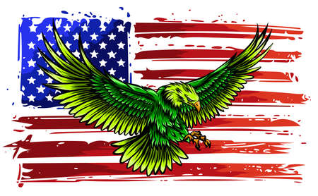 The national symbol of the USA vector Stock Illustratie