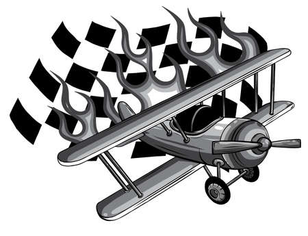 monochromatic Vector Cartoon Fighter Plane. Twin-engine, variable-sweep wing multirole combat aircraft.