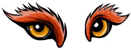 Animal Eye Vector Illustration in white background Illusztráció