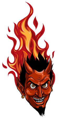 Graphic Vector Image of a Demon or Devil Mascot Head