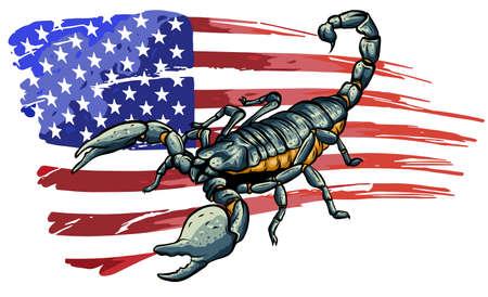 realistic scorpion cartoon vector illustration design art Ilustração