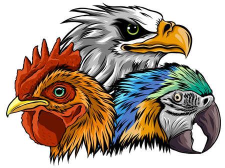 Eagle Mascot Logo Design Vector Template illustration