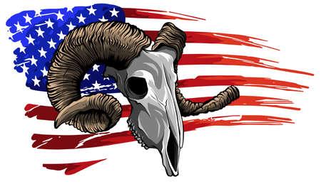 ram goat logo icon design vector illustration