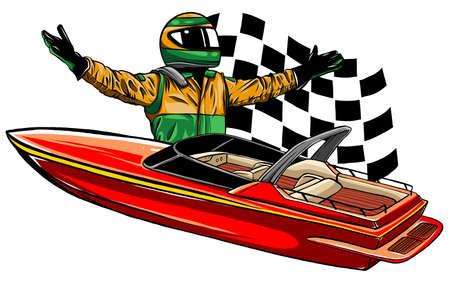 Motor boat race Vector illustration design art
